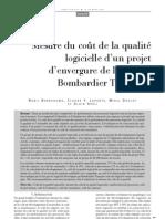 Cout de Qualte_Genie Logiciel_Mars 2009