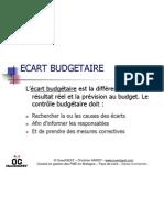Ecart budgétaire