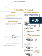 2011 BMW 520d F10 Technical Specifications