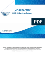 Amorepacific 1Q2012 Earnings Release