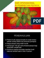 Standar Operasional Prosedur Pepaya