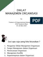 Diklat Manajemen Organisasi PDF