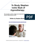How to Study Stephen Brooks Style of Hypnotherapy