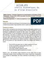 Résultats analyse technico economique Orge Brassicole - Agrobio Bretagne