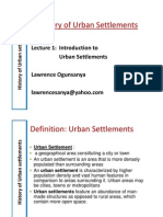 History of Urban Settlements_ Lecture_01