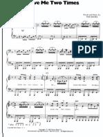 Doors Love Me Two Times Sheet Music 1