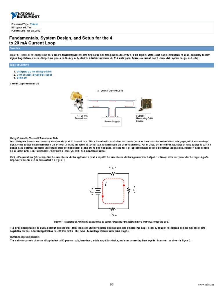 Ni Tutorial 6940 En Amplifier Voltage Current Loop Wiring Diagram