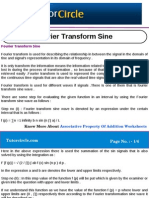 Fourier Transform Sine