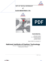 Textile Internship Report at Alok Industries Ltd.