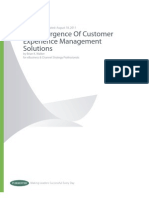 Emergence of Customer Experience Management Solutions