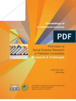 Proceedings of 1st International  Conference on 'Social Science Research in Pakistani Universities