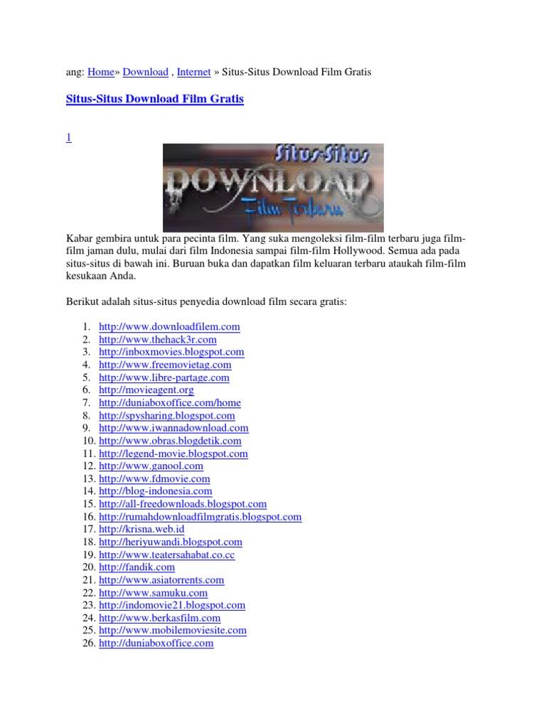 10 situs tempat download film gratis terbaik dan terlengkap indo.