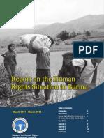 Burma-myanmar  report