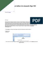 Cara Membuat Daftar Isi Otomatis Dgn MS Word