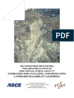 California Landslide Guidelines Special Publication 117