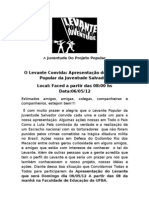 A Juventude Do Projeto Popular.doc