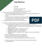 Neuroanatomy Learning Objectives