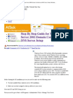 Step by Step Guide for Windows Server 2003 Domain Controller and DNS Server Setup _ Windows Reference