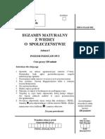Wiedza o Spoleczenstwie - Arkusz I - Poziom Podstawowy 2005