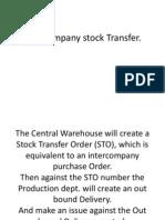 Inter Company Stock Transfer
