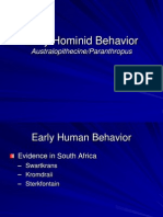 Early Human Behavior