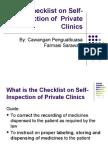 "Ms Chai's Presentation ""Checklist on Self-Inspection of Private Clinics"""