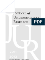Journal of Undergraduate Research 2012