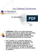 Respiratory Distress Syndrome in Newborn