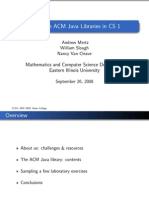 Using the ACM Java Libraries in CS 1