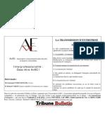 LA TRANSMISSION D'ENTREPRISE (programme)