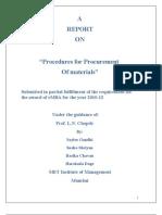 Procurement of Raw MAterials