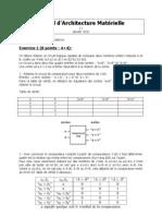 1I - Architecture - Partiel - 2012-01
