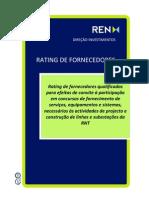 REN Lista Rating Fornecedores