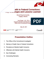 Zinger Mental Health in Federal Corrections_Key Challenges and Lessons Learned