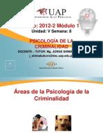 Áreas de la Psicología de la Criminalidad