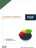 Segmentation in B2B Markets
