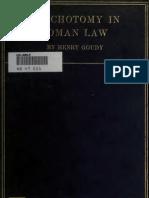 Trichotomy in Roman Law (1910)