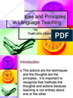 Techniques and Principles in Language Teaching