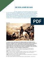 LA SALUD DE DON JOSÉ DE SAN MARTÍN