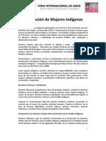 Declaración de Mujeres Indígenas