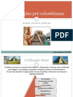 Trabalho das civilizações pre-colombianas
