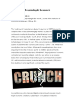 2009 - Responding to the Crunch