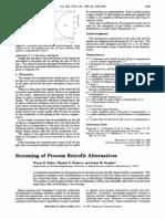 Screenging of Process Retrofit Alternatives