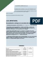 Pruebas de Acceso Grado Superior Alicante 2012