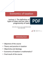 Economics of Taxation 1