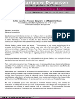 Courrier Delapierre Affiches Sarkozy