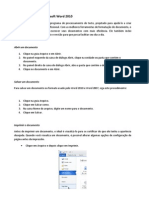 Tarefas básicas no Microsoft Word 2010