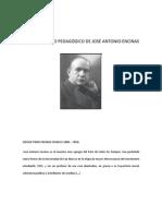 EL PENSAMIENTO PEDAGÓGICO DE JOSÉ ANTONIO ENCINAS