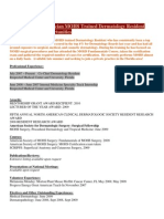 Resume CV DO Physician MOHS Trained Dermatology Resident Seeking Florida Post Medical Resume Physician CV