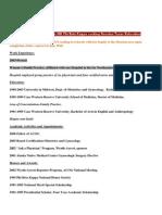Resume CV OBGYN Physician MD Phi Beta Kappa Seeking Houston Texas Relocation Post Medical Resume Physician CV